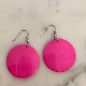 Jewelry - Bright Pink drop earrings